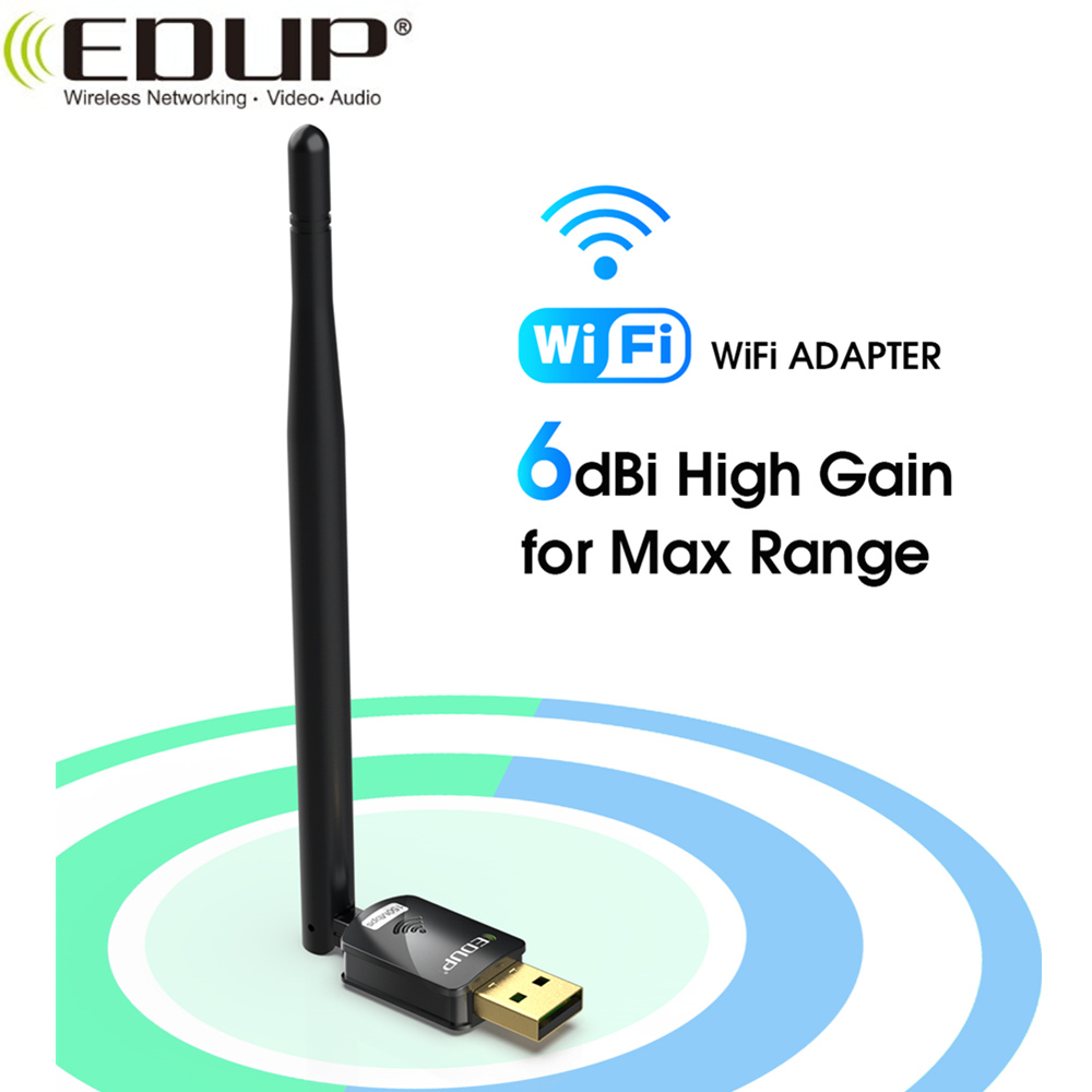 EDUP Usb Wifi Adapter 150mbps High Gain 6dbi Wifi Antenna 802.11n Long Distance Usb Wi-fi Receiver Ethernet Network Card