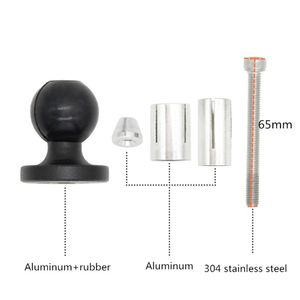 Image 5 - Aluminum Base Rubber Motorcycle Bike Mount Black Fork Stem Base with Ball Head for RAM Mount for Gopro Ball Mount Adapter