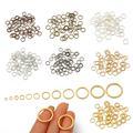 5-500 шт./лот 3-20 мм Металлические одиночные петли Открытые соединительные кольца и разъемные кольца для изготовления ювелирных изделий своим...