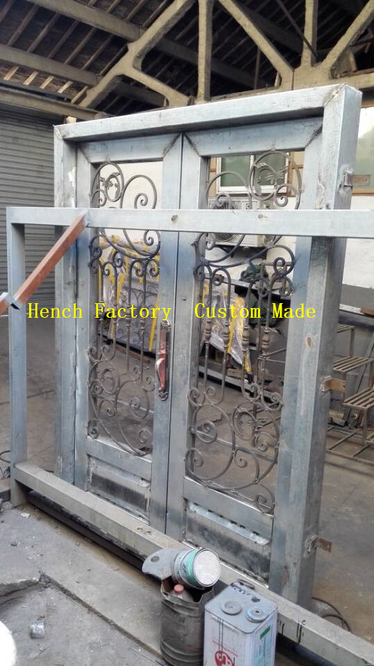 Shanghai Hench Brand China Factory 100% Custom Made Sale Australia Iron Front Door With Sidelights