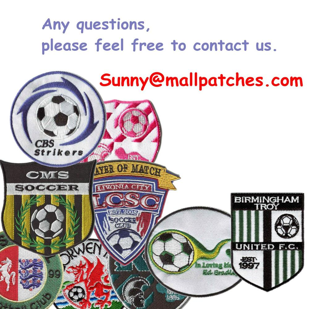 Embroideried Patches Logo Patches Custom College Patches Embroidery Patches For Clothing Heat Transfer Backing Badges