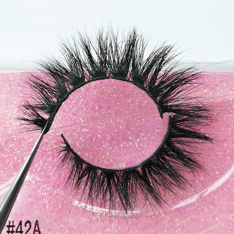 SHIDISHANGPIN 1 paar 3D 100% real nerz wimpern make-up flauschigen natürliche nerz wimpern dramatische falsche wimpern gefälschte lash mak up 41A