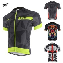 SOTF Geometric lines breathable Bicycle Wear Shirts winter retro cycling jersey maillot long sleeve men motocross
