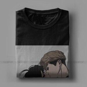 Мужские футболки Killing Stalking Sangwoo Yoonbum, Корейская одежда Yaoi Manga, модная футболка с вырезом лодочкой, футболка большого размера