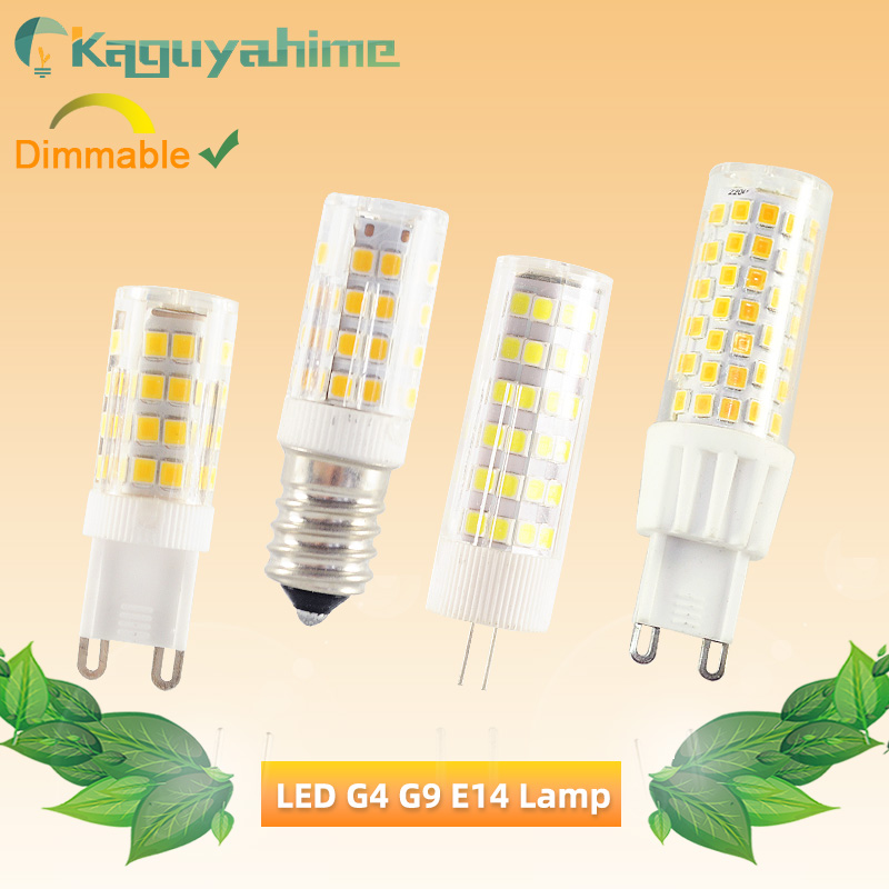 Kaguyahime 5Pcs LED G9 G4 E14 Dimmable Lamp Corn Bulb 9W 7W 5W 3W LED E14 G4 Bulb AC 220V Chandelier Spot Replace Halogen Lamp