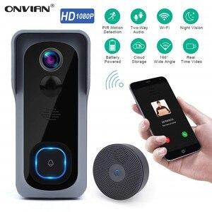 Image 1 - Onvian WiFi kapı zili kamera su geçirmez 1080P HD Video kapı zili hareket dedektörü akıllı kablosuz kapı zili kamera gece görüş ile