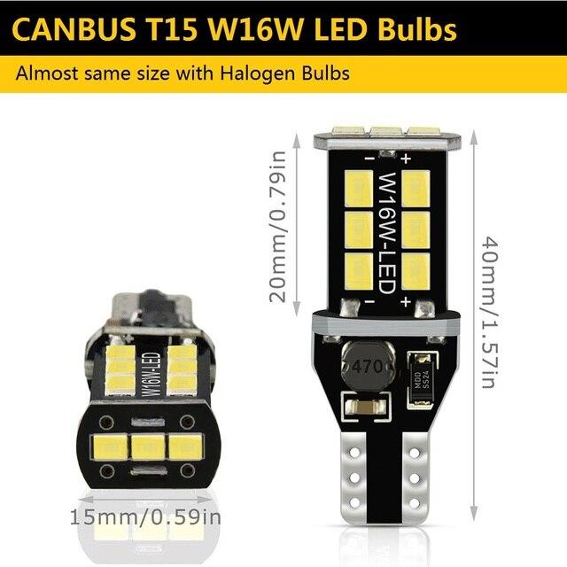 2x T15 led Canbus 921 W16W bombilla LED luces de marcha atrás de coche para Audi A4 B8 B6 A3 8P RS5 A6 C5 C6 C7 A7 A8 Q5 Q7 S4 S5 S6 TT