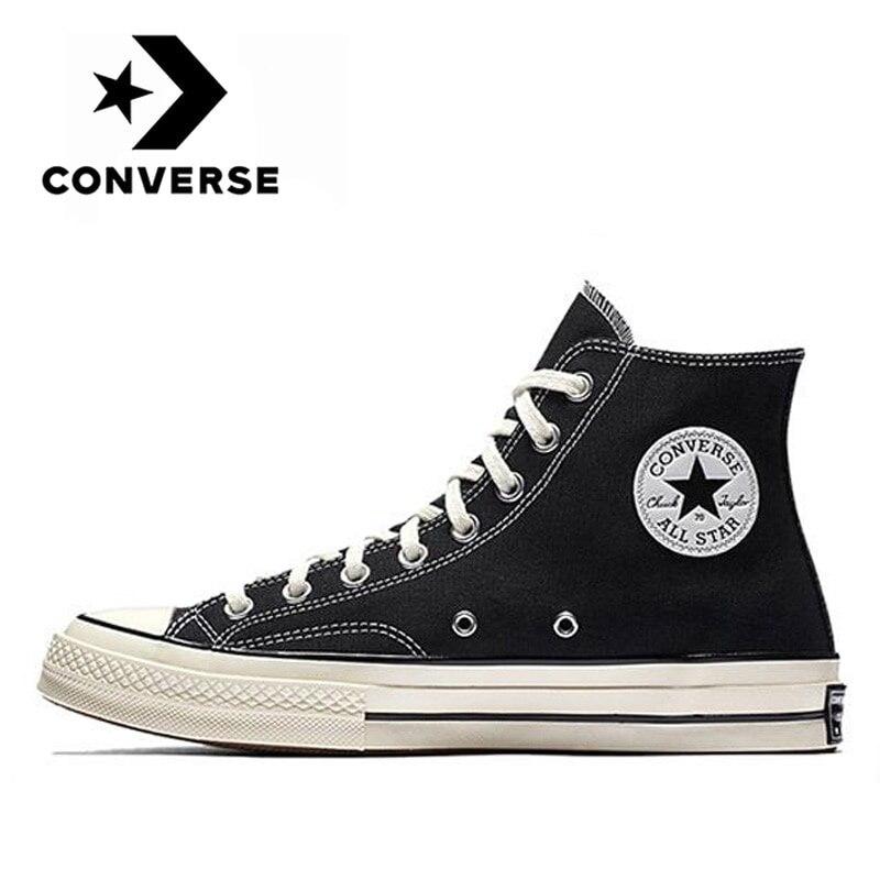 Кеды Converse Chuck Taylor 1970s унисекс, Классические высокие кроссовки, высокие кеды, парусиновая обувь, черные, оригинал