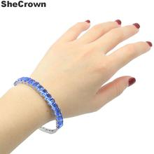 8x6mm Deluxe Created Rich Blue Violet Tanzanite London Blue