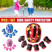 7Pcs/set Kids Boy Girl Safety Helmet Knee Elbow Pad Sets Children Cycling Skate Bicycle Helmet Protection Safety Guard