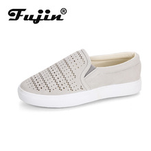Fujin Western Style Women Flats Dropshipping Causal Fashion Shoes Walking  Flat Lazy Retro Low Top Slip on Loafers