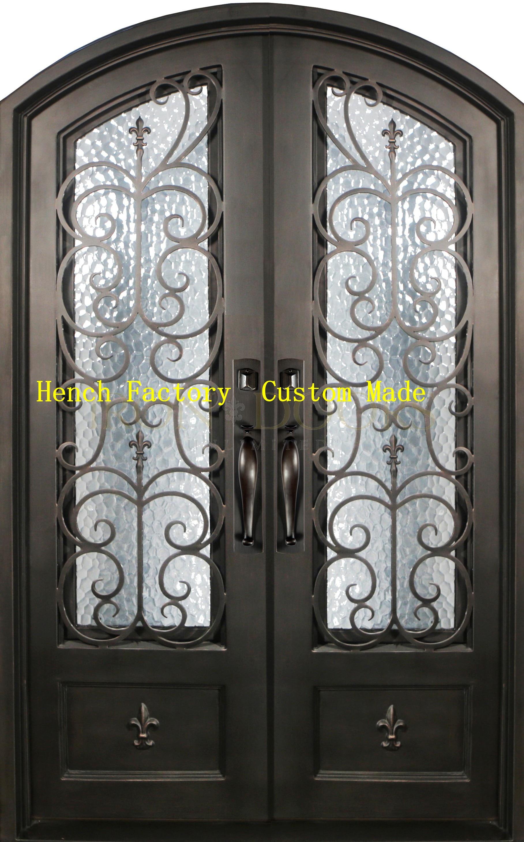 Shanghai Hench Brand China Factory 100% Custom Made Sale Australia Single Iron Door With Sidelights