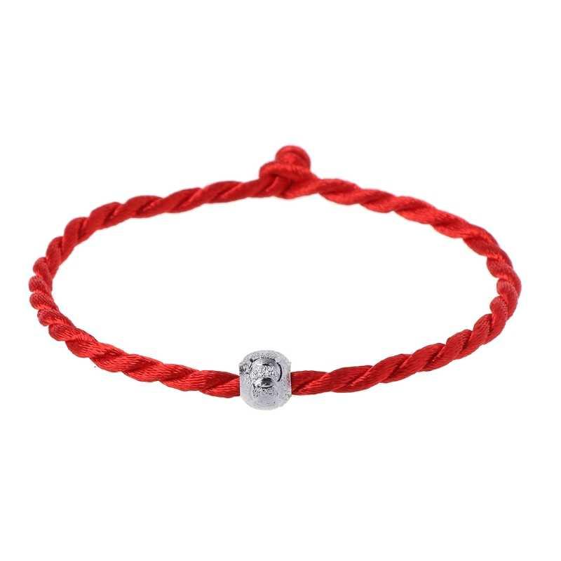 赤ロープ文字列ブレスレットラッキービーズチベット仏教ジュエリー