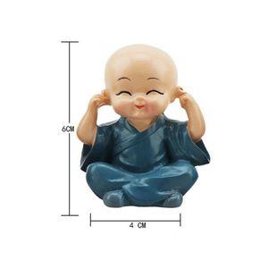 Image 5 - 車の装飾品4ピース/セット樹脂へまヘッド人形フィギュア装飾トミー僧侶弥勒仏フィギュアギフトデスクの自動ペンダントチャーム