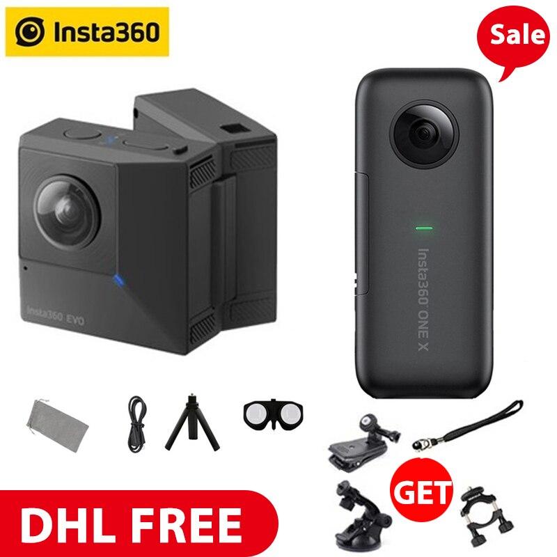 Insta360 EVO 3D VR Insta360 Een X Panoramische Camera F2.2 180 5.7K Video Camera voor iPhone XS Max XR X 8 7 6 serie SE PK Xiaomi-in 360° Videocamera van Consumentenelektronica op  Groep 1