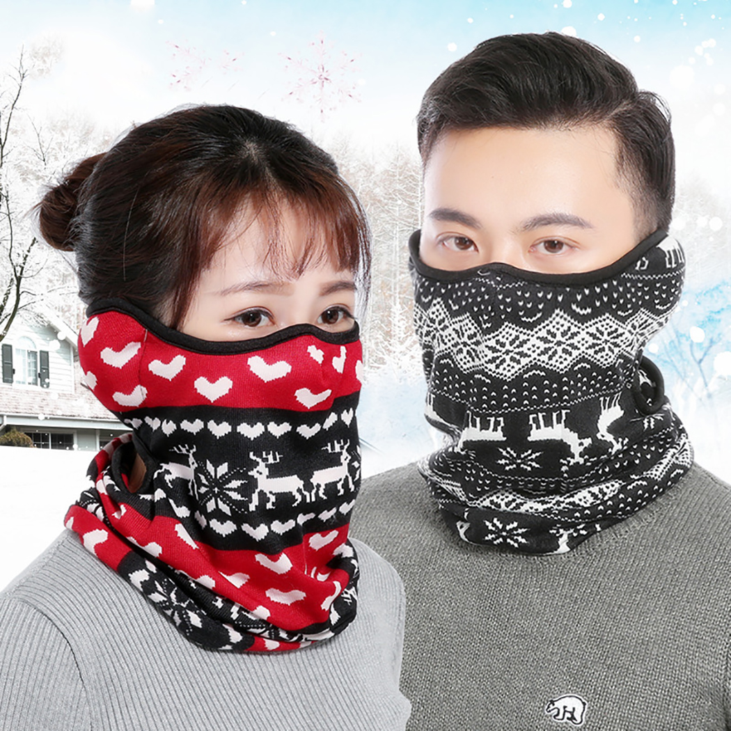 3 In 1 Cycling Face Mask Warm Windproof Ear-Protective Face Cover Mask Winter Neck Warmer Clothing Accessories For Christmas