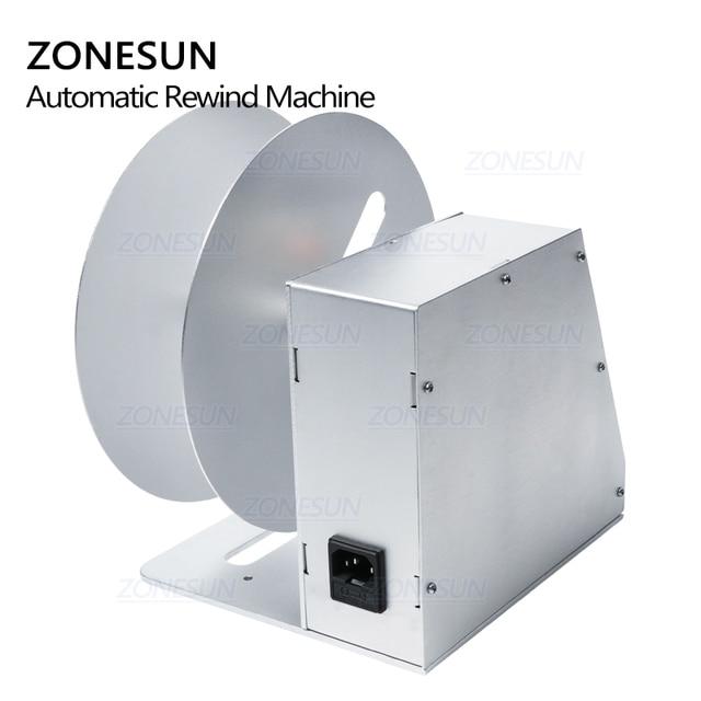 ZONESUN Digital etiqueta automática rebobinadora etiquetas de ropa pegatinas de código de barras máquina de rebobinado volumen etiqueta para supermercado