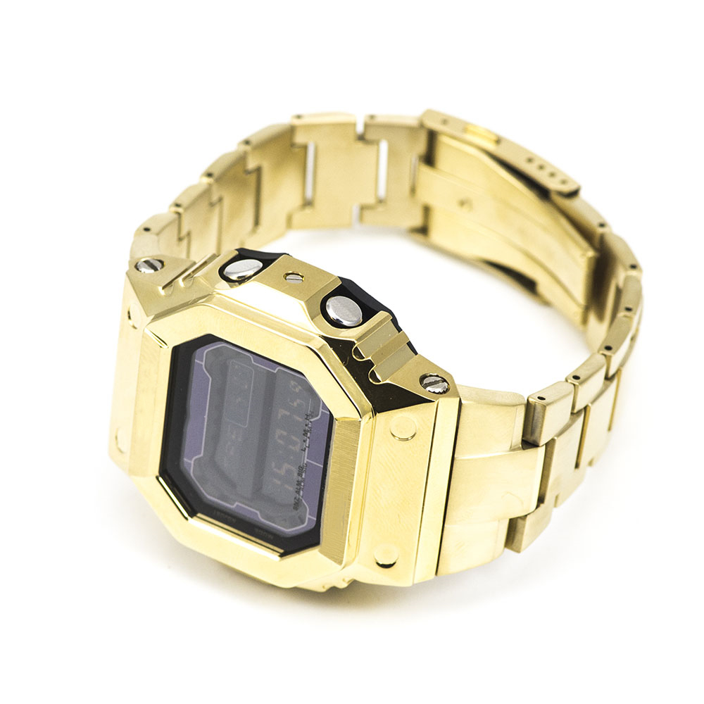 GX56 Gold Watch Set Watchband Bezel Watch Case 100% Metal 316L Stainless Steel With Free Tools