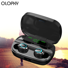 New Wireless Earphones LED Display TWS Wireless Bluetooth Earphone HIFI Stereo Earbuds Gaming Headset With Mic Noise Canceling wireless business affairs bluetooth earphones pleasant 180 degree rotating stereo music headset noise cancellation earbuds eh