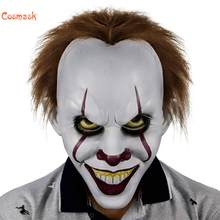 Cosmask Stephen King's It Mask Pennywise Horror Clown Mask Latex Halloween Scary Clown Mask Party Lifelike Cosplay Costume Props