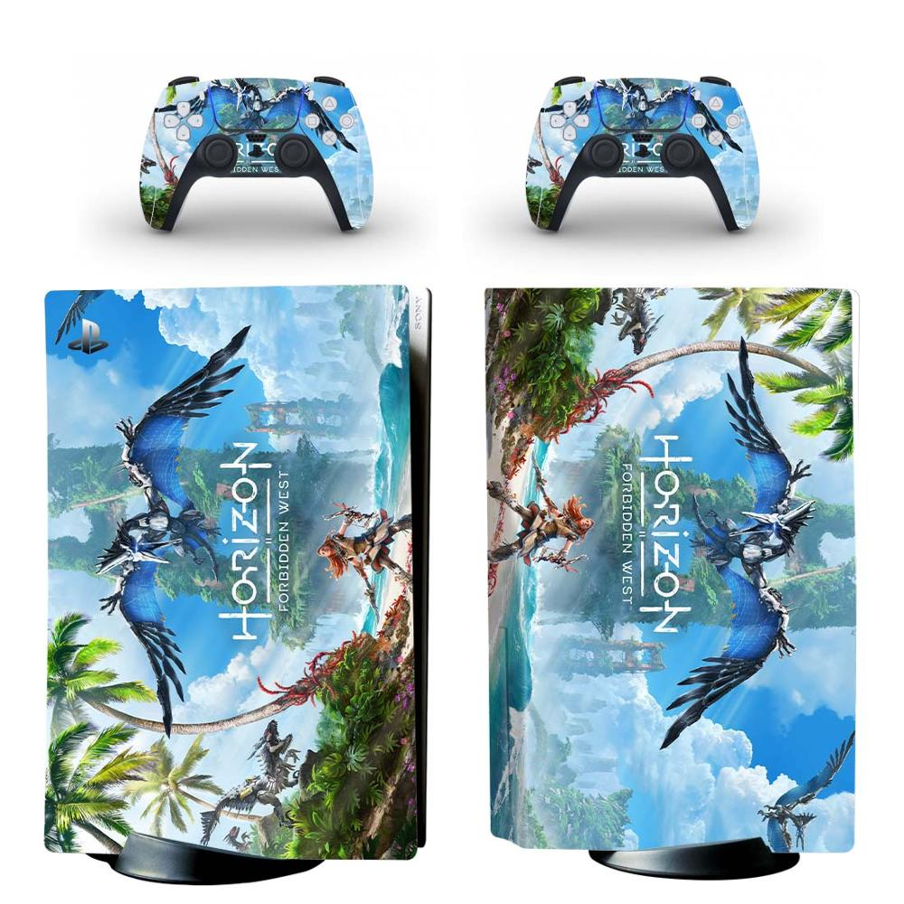 Horizon 2 PS5 Standard Disc Edition Skin Sticker Decal Cover for PlayStation 5 Console & Controller PS5 Skin Sticker Vinyl 1