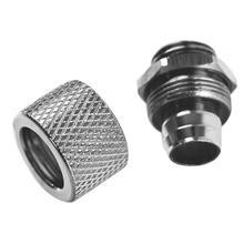G1/4-10-L латунный диаметр 10X16 мм резьбовой соединитель шланга для водяного охлаждения никелирование обработка поверхности жидкая направляющая трубка