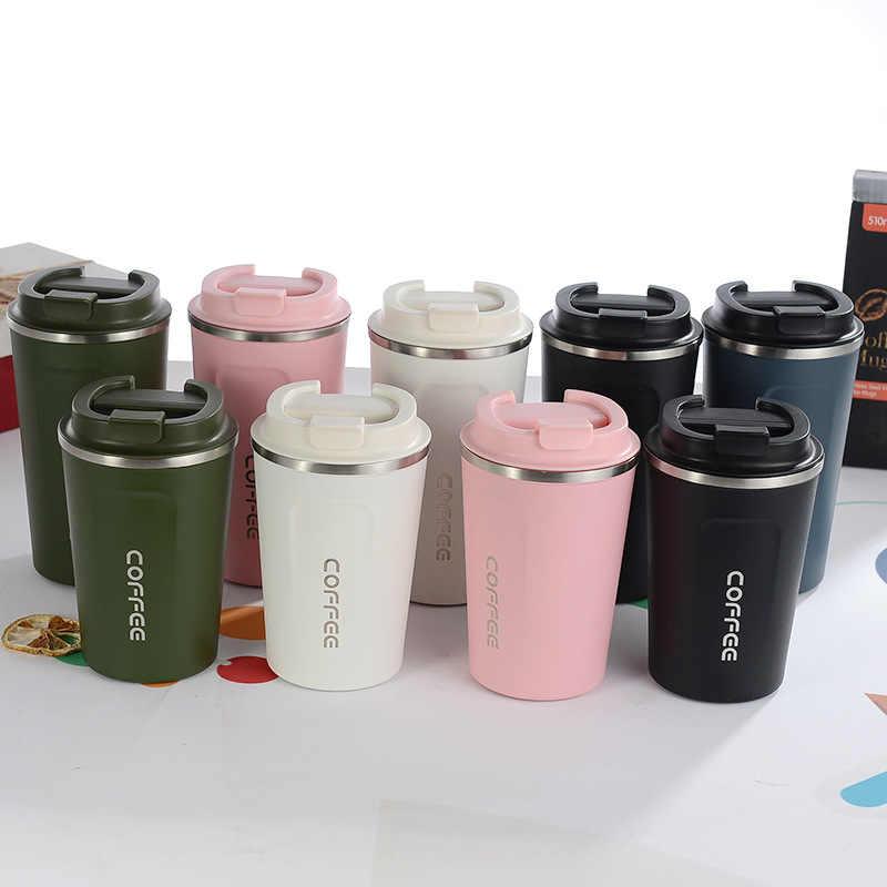 380 ml/510 ml สแตนเลสสูญญากาศ Thermo ถ้วยกาแฟชานมแก้วท่องเที่ยว Thermol Bottle 2019 คุณภาพสูง