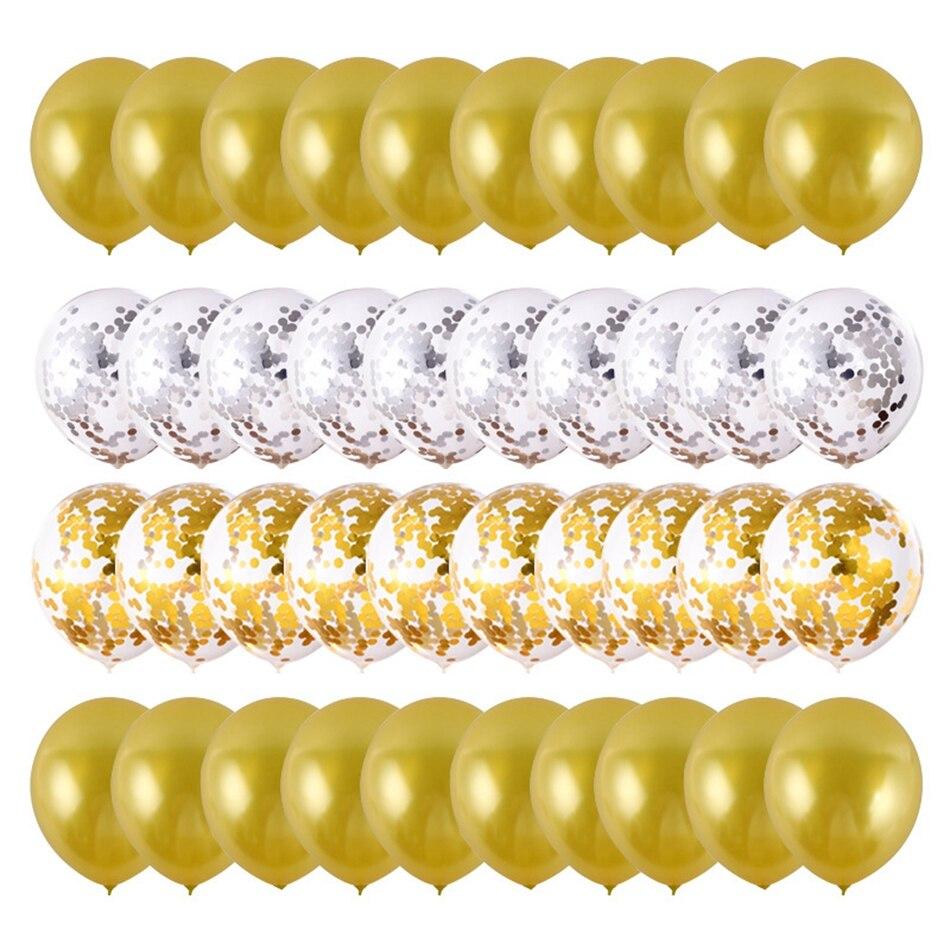 40 pçs 12 polegada pérola látex balões decorações de festa aniversário crianças balão com confetes casamento dia dos namorados presente acessórios