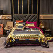 Pillowcases Fleece Bedding-Set Duvet-Cover Flat-Sheet Velvet Flannel Luxury Warm Winter