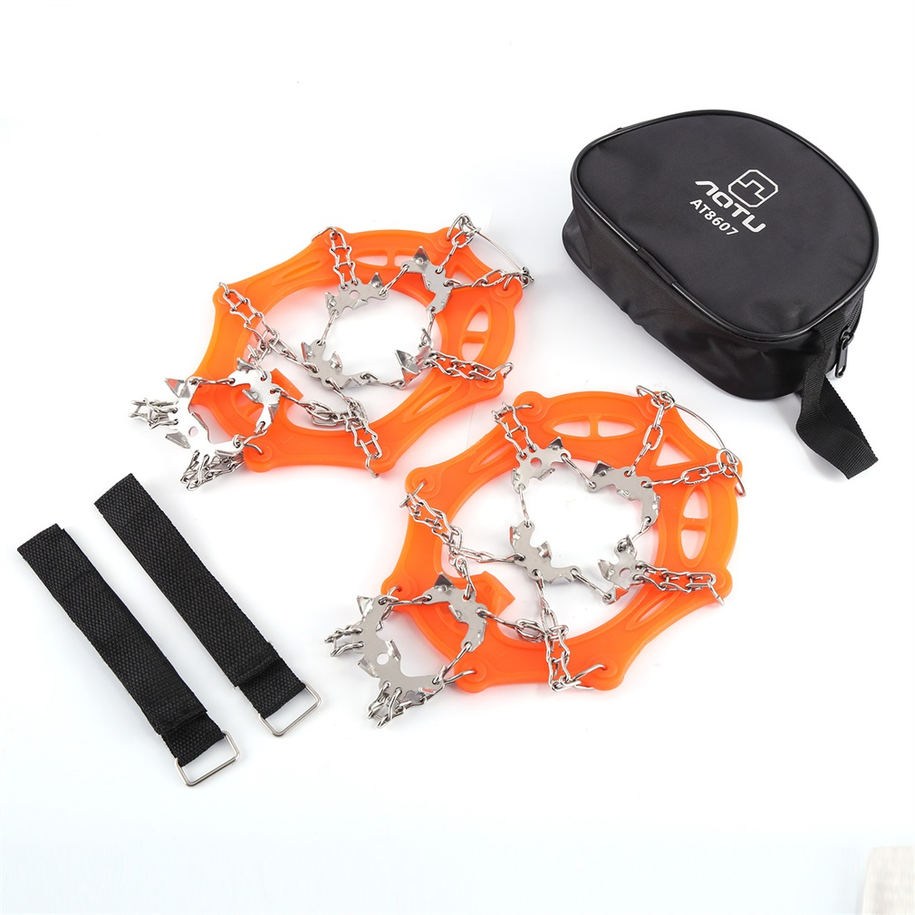 19T Anti-skid Climbing Crampons Mini Spikes Footwear Ice Traction Safe Protect For Walking Jogging Hiking On Snow Ice Hot