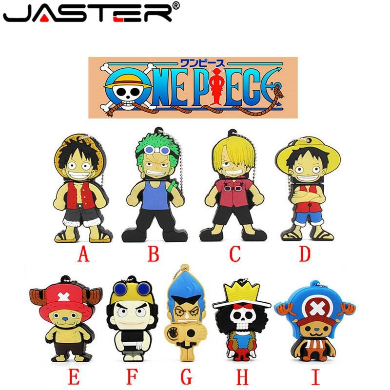 JASTER USB Flash Drive Cartoon Pendrive One Piece 64GB/32GB/16GB Usb Stick Hot Sale Flash Memory Stick Free Shipping Flash Card