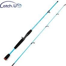 Fiação vara de pesca 1.8m azul vermelho laranja amarelo fibra de carbono 1/8-3/4oz lago isca pesca pólo hastes de fundição