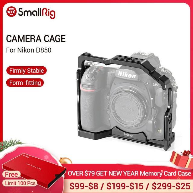 Petite Cage de montage pour Nikon D850 avec plaque QR suisse Arca intégrée et Rail otan 2129