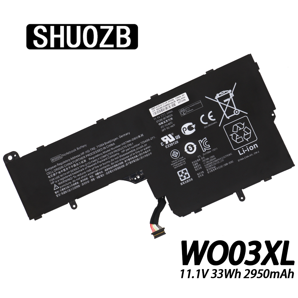 WO03XL Laptop Battery For <font><b>HP</b></font> SPLIT Mini X100E 100E x2 <font><b>13</b></font>-M <font><b>13</b></font>-M010DX Tablet 725606-001 725496-1B1 HSTNN-IB5I WO03 WOO3XL image