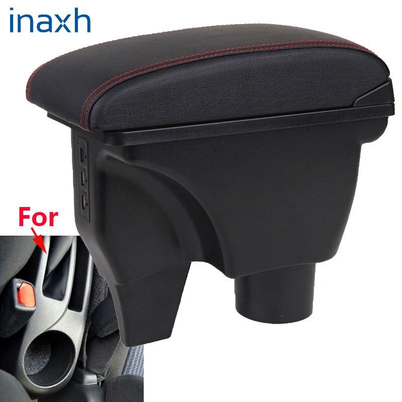Para toyota yaris apoio de braço para toyota yaris vitz carro caixa de apoio de braço acessórios do carro caixa de armazenamento central peças retrofit com usb