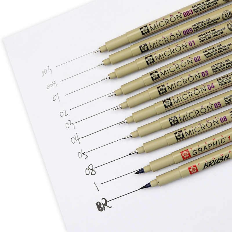 9X Fine Line Pen 005 01 02 03 04 05 08 BRUSH Kunsthandwerk Kunstbedarf k