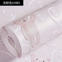 3DCute cartoon bear  embossed non-woven wallpaper children's room boys girls boys bedroom blue environmental protection TV wall environmental protection non woven wallpaper children s room cartoon color lovely dot wall paper 3d boys and girls bedroom decor