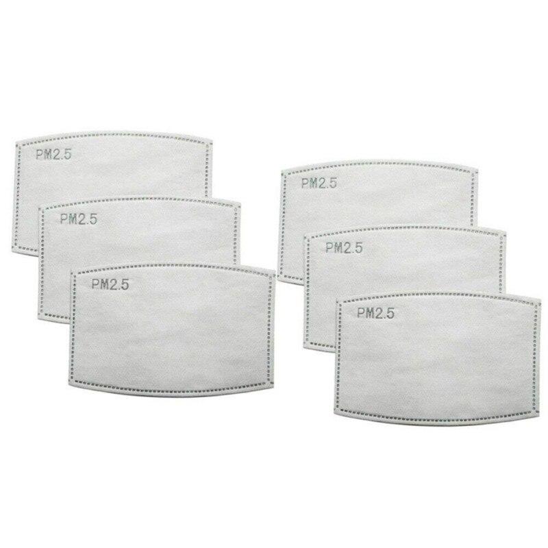 100PCS PM 2.5 Filter Paper Face Mouth Masks Dustproof Mask Protective Cover Masks Set Heath Care