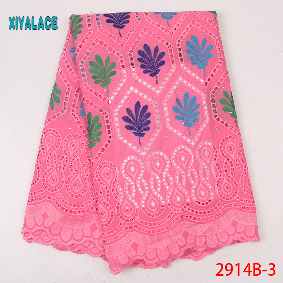 African Lace Fabric 2019 High Quality Most Popular New Style Embroidery Lace For Wedding Bridal Dress Lace Fabric YA2914B-3