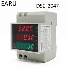 Digital-Meter Power-Factor Multi-Function 0-100A Electric-Energy Din-Rail DIY LED 80-300V