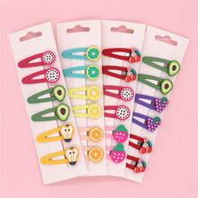 6Pcs/Set Korean Cute Colorful Baby Hair Clips Fruit 5 Cm Hairpins Sweet Kids Girls Bobby Pin Barrette Headdress Accessories