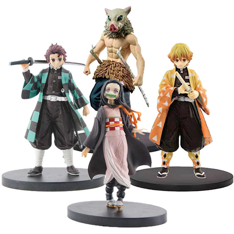 16 Cm Japan Anime Demon Slayer Kimetsu Tidak Yaiba Gambar Kamado Tanjirou Nezuko PVC Action Figure Prajurit Model Figuals Mainan hadiah