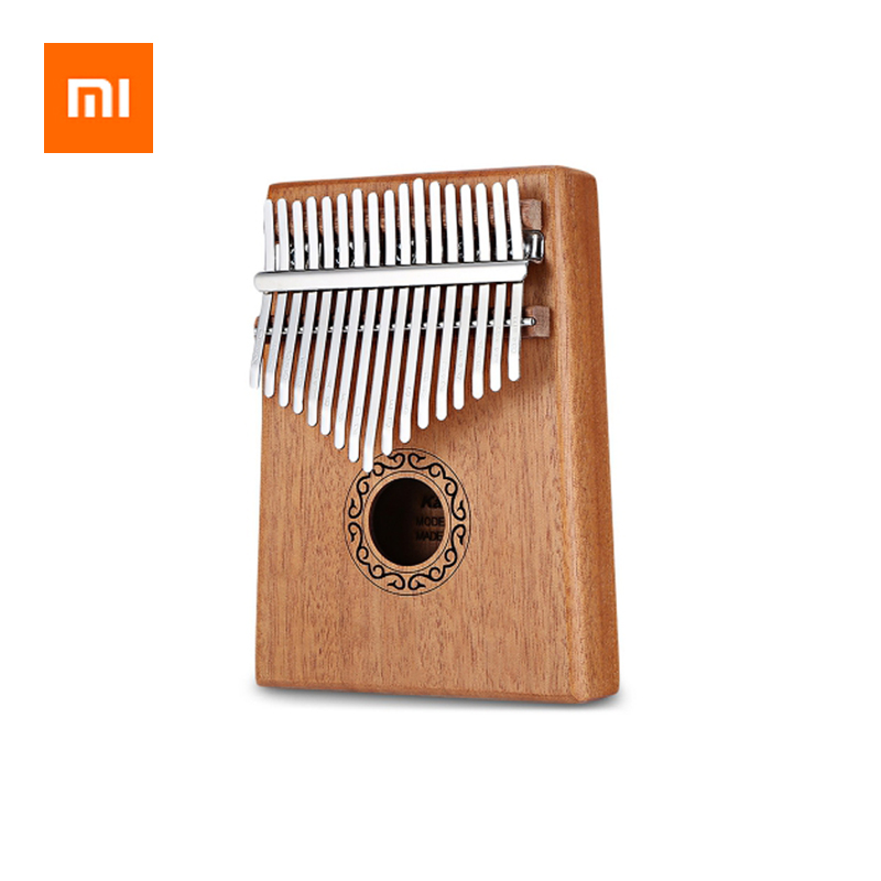 Xiaomi 17 Keys Kalimba Thumb Piano High Quality Wood Mahogany Body Musical Instrument With Learning Book Tune Hammer Storage Bag