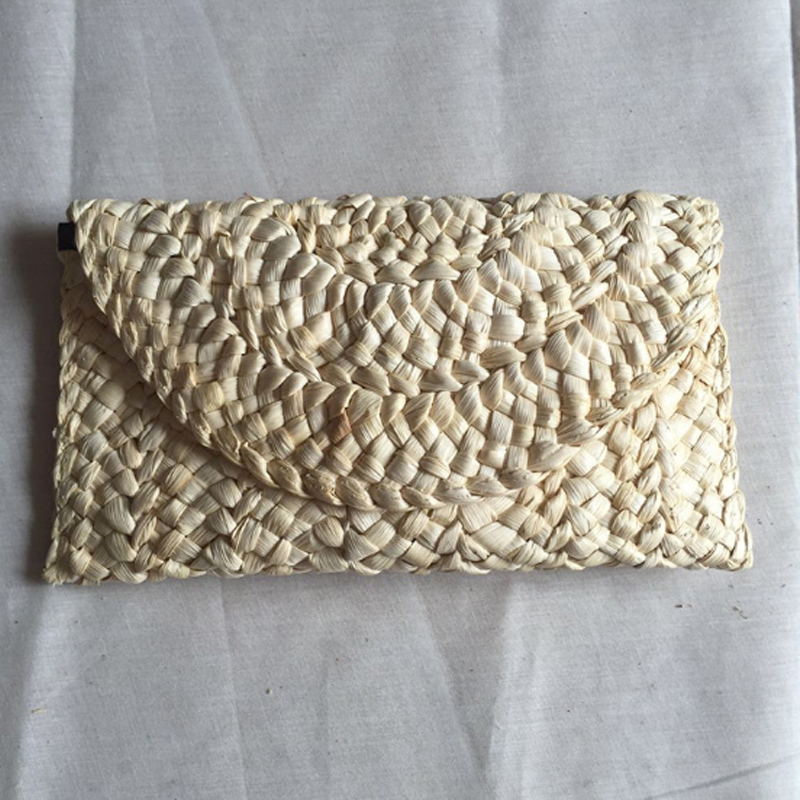 Hot Solid Women's Day Clutches Women Casual 2019 New Style Handbags Fashion Beautiful Girl Straw Handbags For Lady Bag