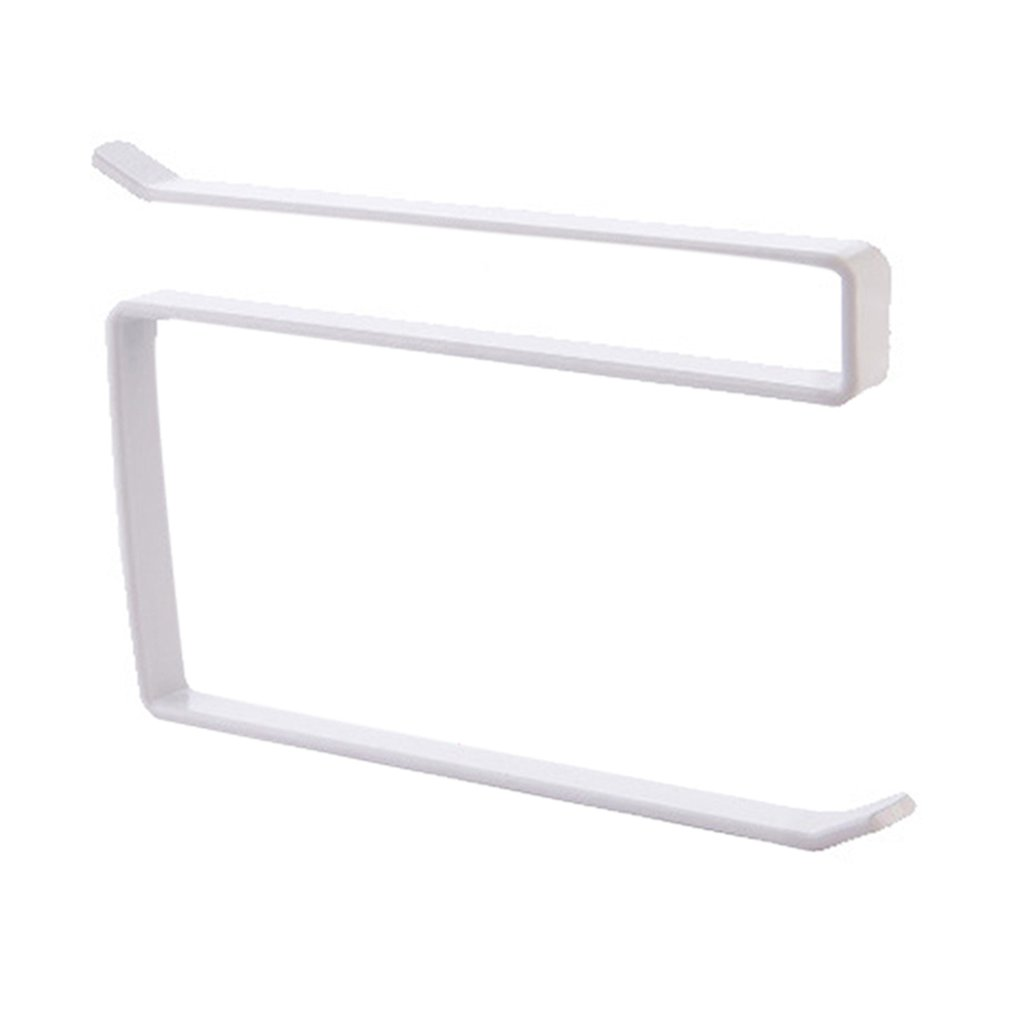 Kitchen  Paper Towel Rack Door Cabinet Hanging Free Punching Wrought Iron Cabinet Partition Layer Storage Rack Roll Holder