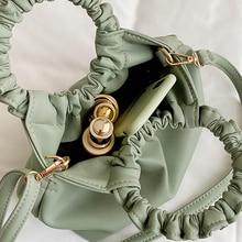 Luxury Leather Small Handbag Soft Evening Clutches Women Hand Dumpling Bag Leather Crossbody Bag Female Totes Bag Hand Purse