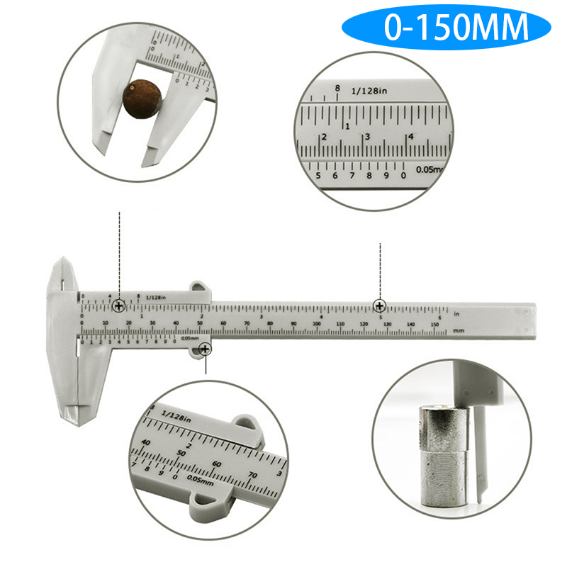150mm DIY Tool Woodworking Metalworking Plumbing Model Making Vernier Caliper Aperture Depth Diameter Measure Tool