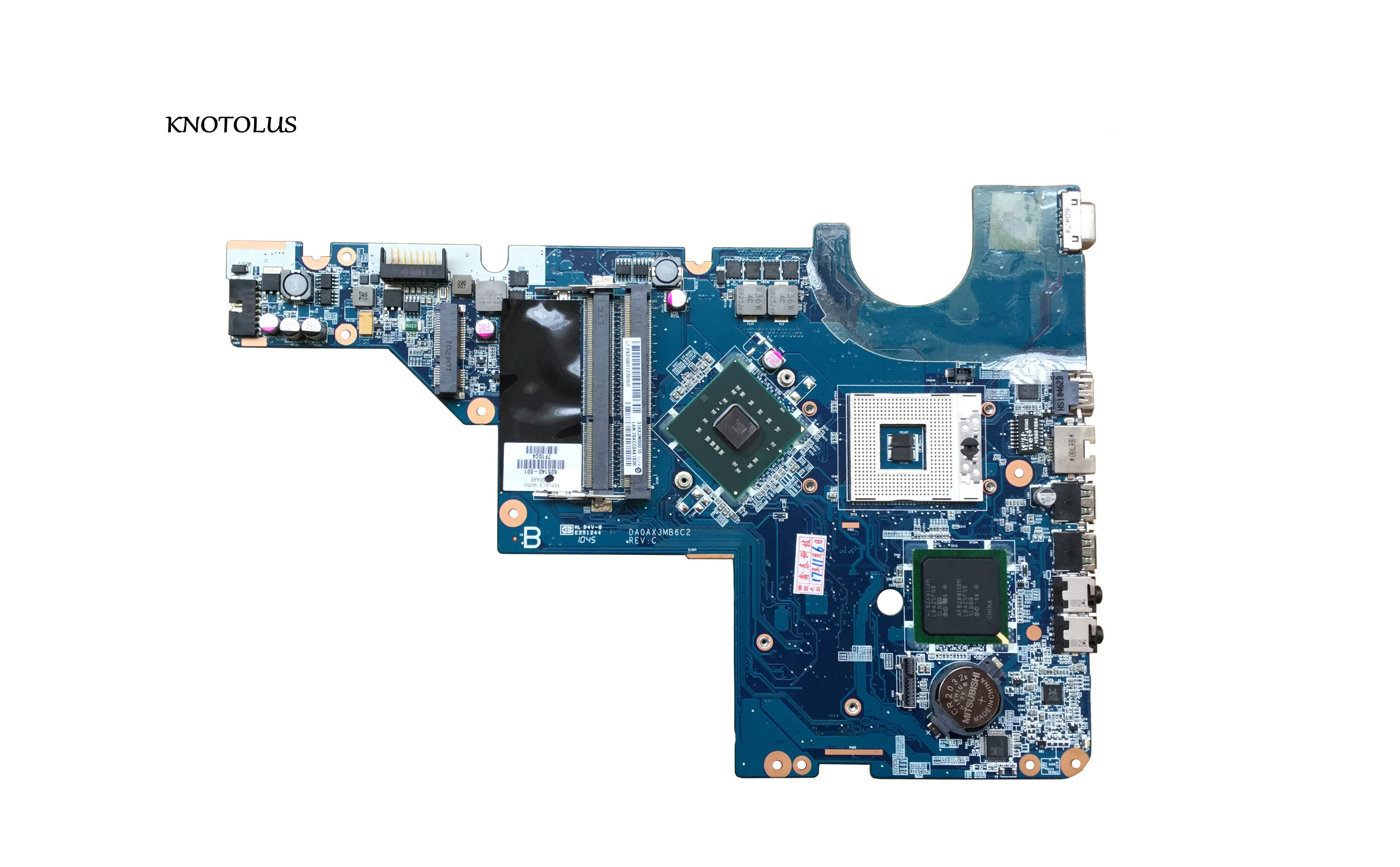 605140-001 Free Shipping Laptop Motherboard For HP G42 CQ42 Motherboard DDR3 GL40 DA0AX3MB6C2 100% Tested Intact