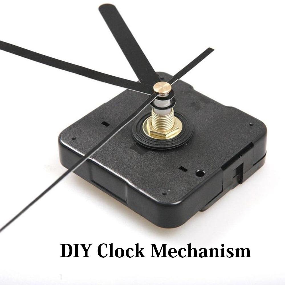 Horloge à faire soi-même mécanisme silencieux Non-coutil Quartz montre ronde horloge murale mouvement mécanisme pièces réparation remplacement besoin d'outils