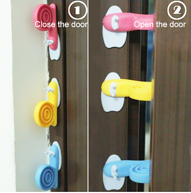 Soft Plastic Baby Home Safety Door Stopper Baby Safety Cute Safe Cartoon Snail Shape Door Stop Anti-pinch Hand Child Protector